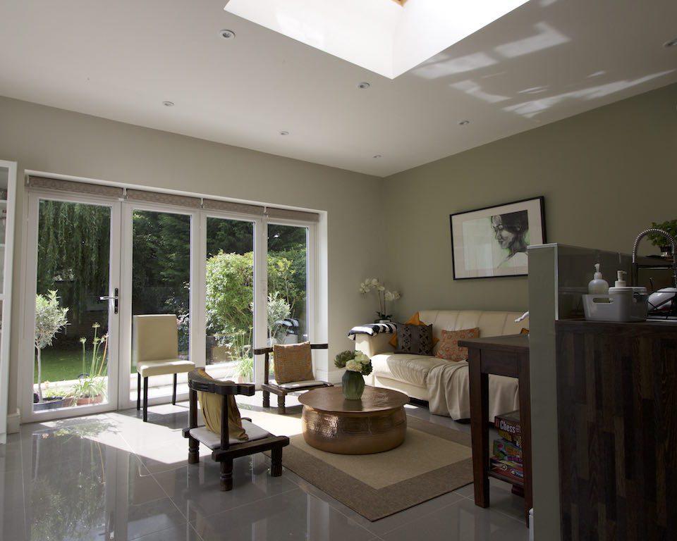 Rear extension, family room, garden room